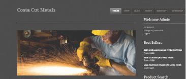 Custom WordPress eCommerce Design for a Steel & Aluminum Store