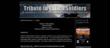 Tribute to Fallen Soldiers Custom WordPress Design by Rick Cano